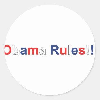 obama rules round sticker