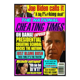 Obama Scandal Greeting Card 13 Cm X 18 Cm Invitation Card
