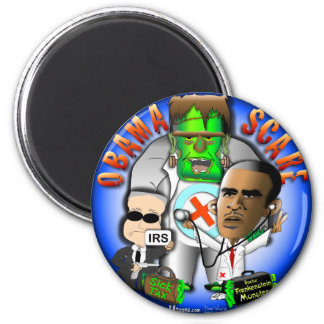 Obama Scare 6 Cm Round Magnet