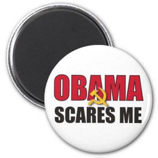 Obama Scares Me 6 Cm Round Magnet