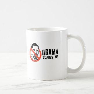 OBAMA SCARES ME CLASSIC WHITE COFFEE MUG
