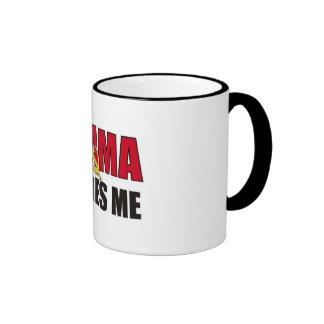 Obama scares me ringer mug