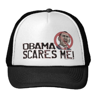 Obama Scares Me Shirts and Gear Mesh Hat