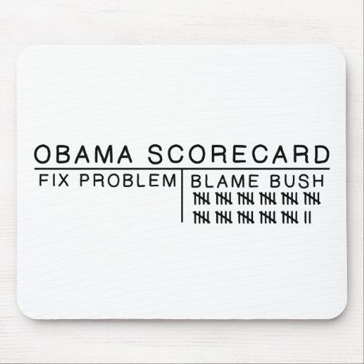 Obama Scorecard Mouse Pads
