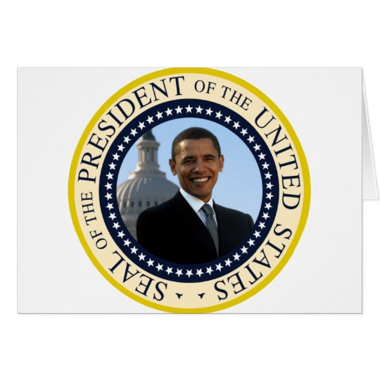 Obama Seal Blue Card