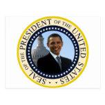 Obama Seal Blue Postcard