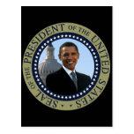 Obama Seal Gold Postcard