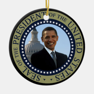 Obama Seal Gold Presidential Seal Christmas Ornament