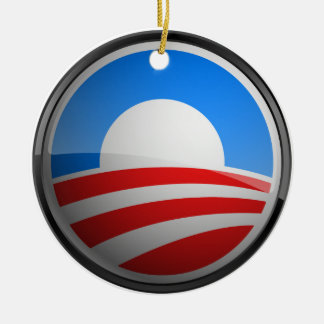 Obama Seal - Yes We Can Round Ceramic Decoration