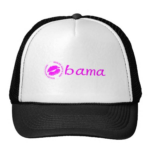 Obama-Sealed With A Kiss Hats