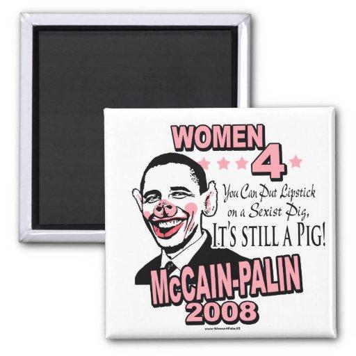 Obama Sexist Pig Gear Magnet