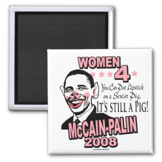 Obama Sexist Pig Gear Square Magnet