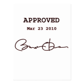 Obama Signs Bill, Health Care Reform March 23 2010 Postcard