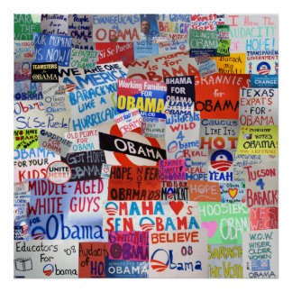 Obama Signs from Around the Country Poster