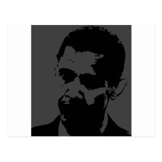 obama silhouette postcard
