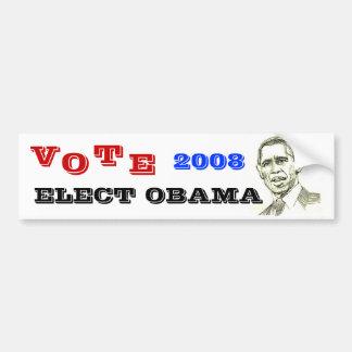 Obama Sketch Bumper Sticker Car Bumper Sticker