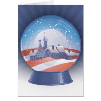 obama snow globe card