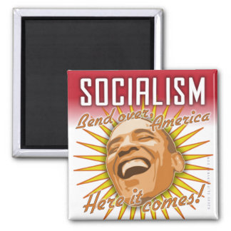 "Obama ""Socialism Here It Comes"" Magnet"