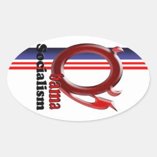 Obama Socialism Oval Sticker
