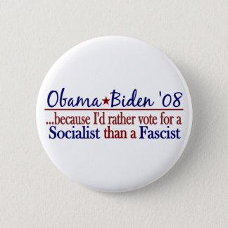 Obama Socialist 6 Cm Round Badge