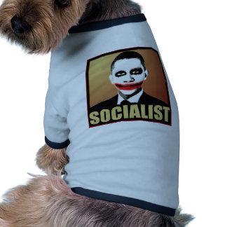 Obama Socialist Pet Tshirt