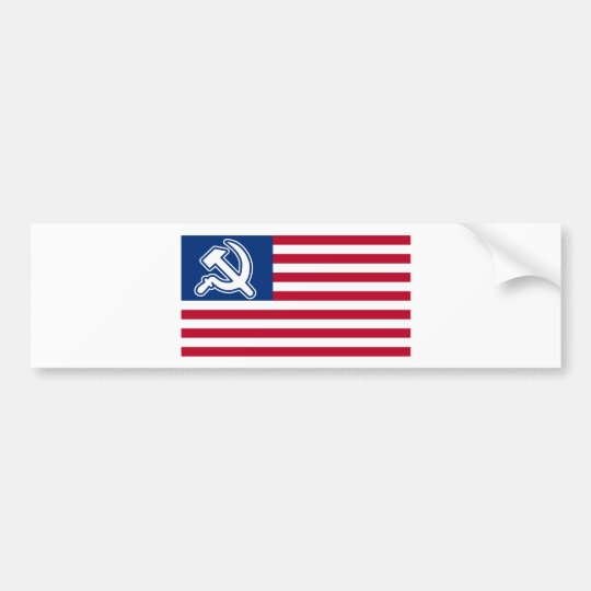 Obama Socialist Flag Bumper Sticker