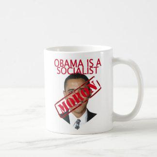 Obama socialist moron (mug) basic white mug