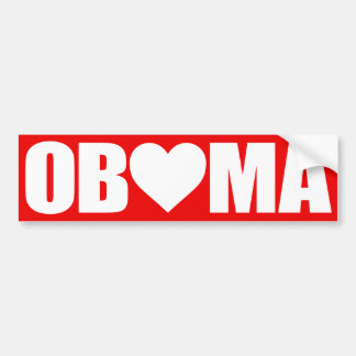"""'OBAMA' SPELLED WITH HEART"" BUMPER STICKER"