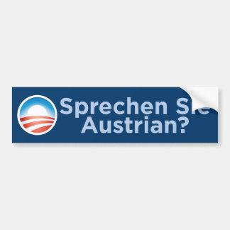 Obama - Sprechen Sie Austrian? Bumper Sticker Car Bumper Sticker