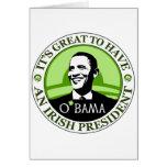 Obama St. Patrick's Day Card