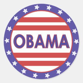 Obama Stars&Stripes Circle Round Sticker