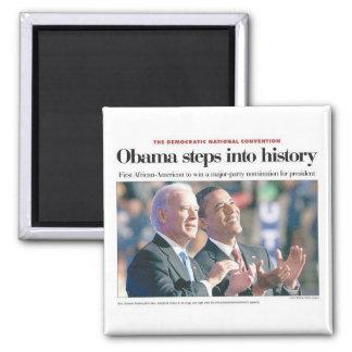 Obama Steps Into History Magnet