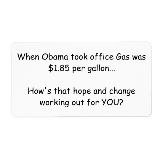 Obama sticky note protest shipping label