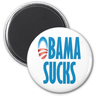 Obama Sucks 6 Cm Round Magnet