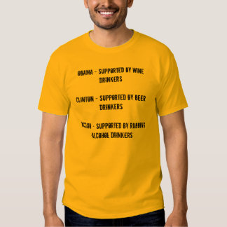 Obama - Supported by Wine DrinkersClinton - Sup... T Shirt