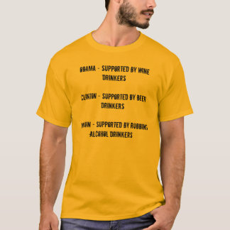 Obama - Supported by Wine DrinkersClinton - Sup... T-Shirt