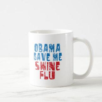 obama swine flu coffee mugs
