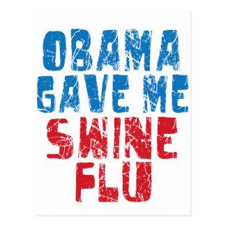 obama swine flu postcards