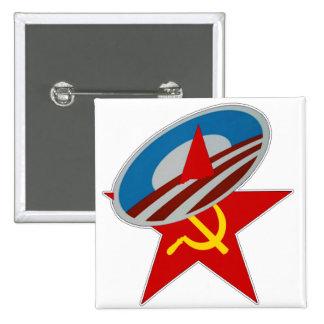 Obama Symbol Socialist Star 15 Cm Square Badge