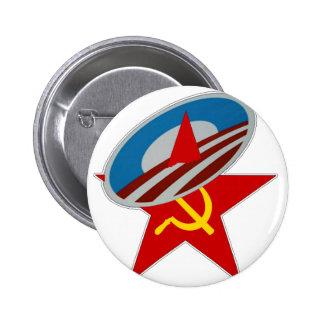 Obama Symbol Socialist Star 6 Cm Round Badge
