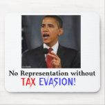 Obama TAX EVASION Mouse Pad