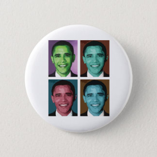 Obama Technicolor Button