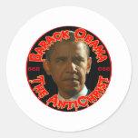 Obama The AntiChrist Classic Round Sticker