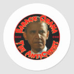 Obama The AntiChrist Round Sticker