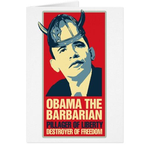 Obama the Barbarian Card
