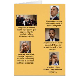 Obama the Dictator Greeting Card