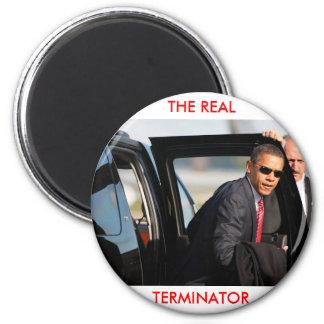 Obama - The Real Terminator 6 Cm Round Magnet