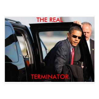 Obama - The Real Terminator Postcard