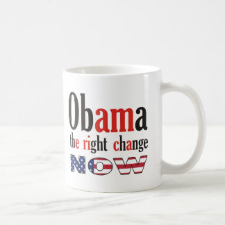 Obama - the right change now (America) Mugs