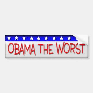 Obama the Worst Bumper Sticker